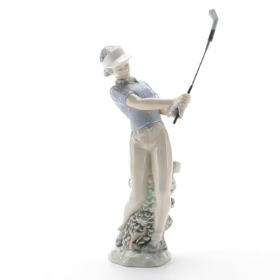 "Nao by Lladró ""Fore"" Porcelain Figurine, 1980s"