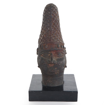 "Edo Style ""Iyoba"" Queen Mother Memorial Head, Nigeria"