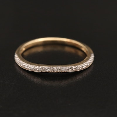 10K Diamond Curved Band