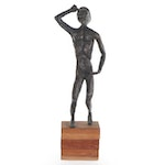 Brutalist Style Figural Bronze Cast, 20th Century