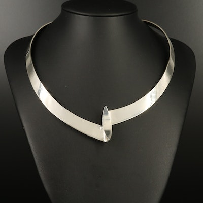 Dominique Dinouart Mexican Modernist Sterling Collar