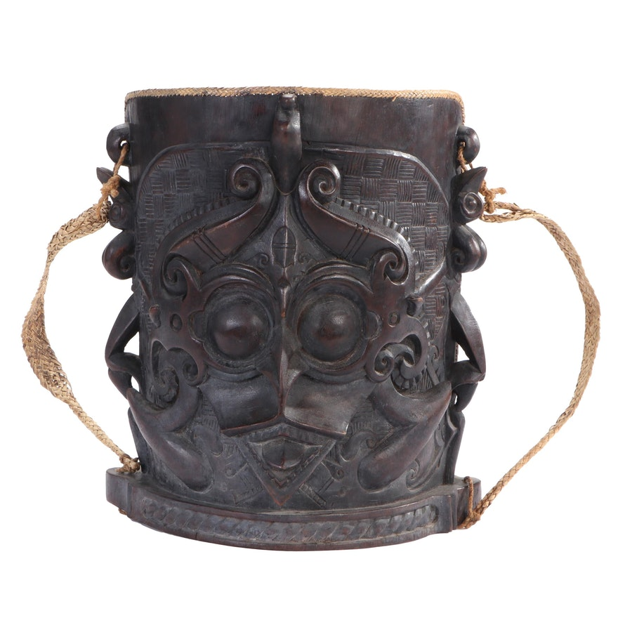 Kayan Baby Carrier with Depiction of Demon Face, Indonesia