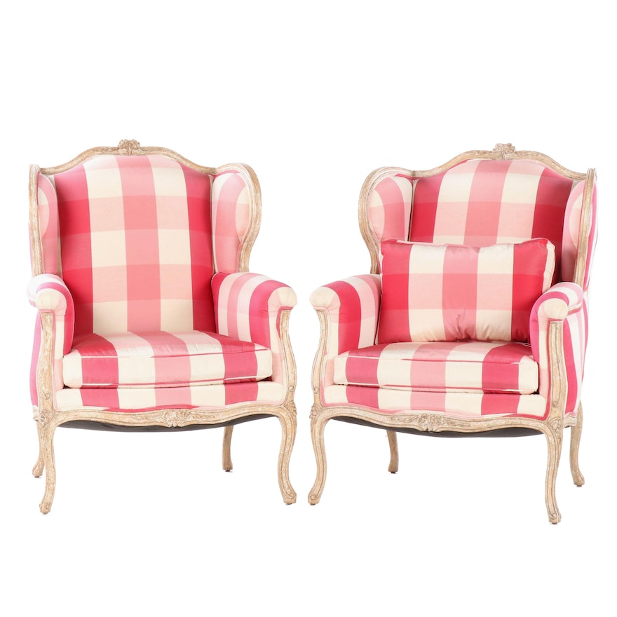 Minton Spidell Upholstered Provence Wing Chairs