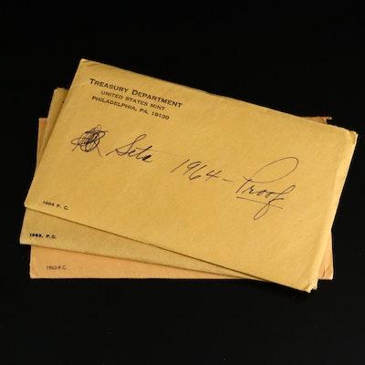 Three U.S. Mint Proof Sets, 1962 to 1964