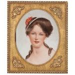 Portrait Porcelain Painting, 20th Century