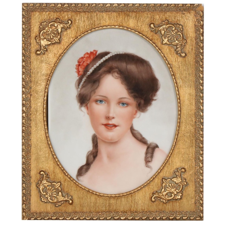 Portrait Porcelain Painting, 20th Century