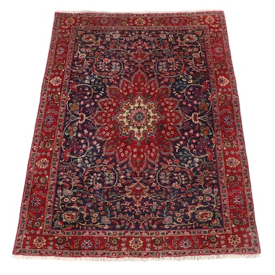 6'7 x 9'5 Hand-Knotted Persian Isfahan Wool Riug