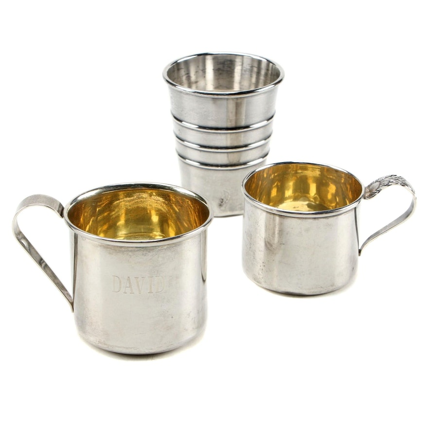 Sterling Silver Children's Keepsake Cups with Jigger