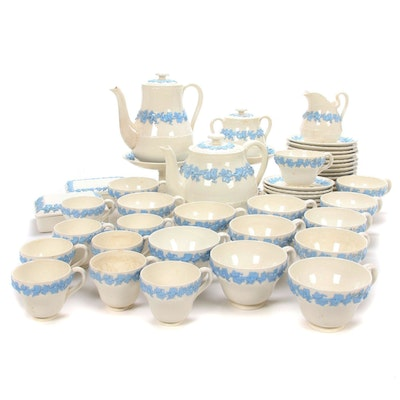 Wedgwood Embossed Queens Ware Of Etruria & Barlaston, Tea Service
