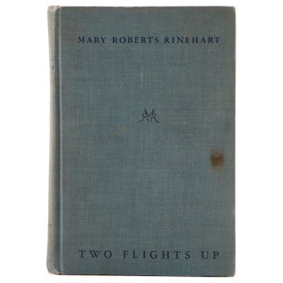 """Signed First Edition """"Two Flights Up"""" by Mary Roberts Rinehart, 1928"""
