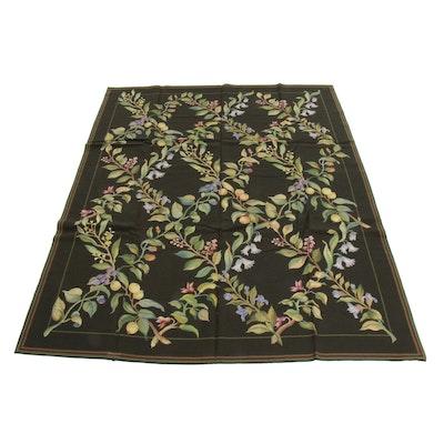 8' x 10' Handmade Sino-French Aubusson Style Needlepoint Rug