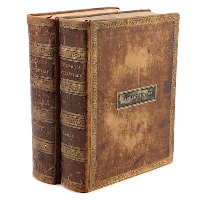 """A New Family Bible, Containing the Old and New Testaments"" Two-Volume Set, 1816"