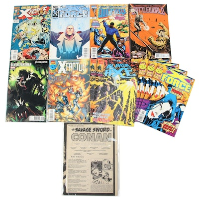 """""""X-Force,"""" """"Black Panther,"""" """"Quicksilver,"""" and Other Marvel Comics"""