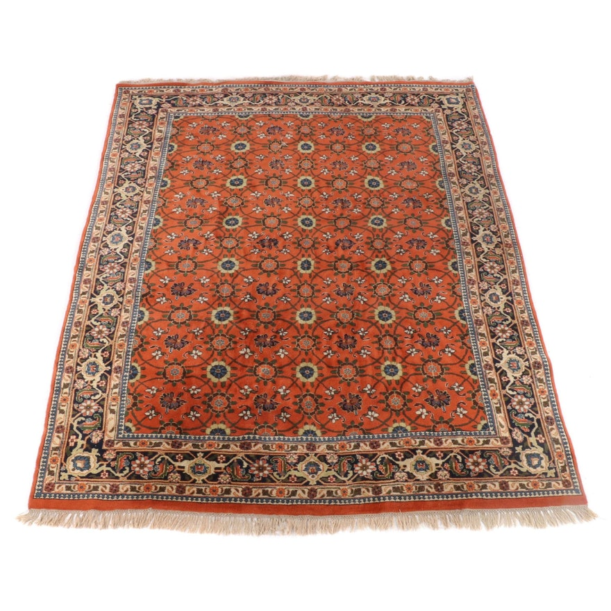 8'6 x 11'11 Hand-Knotted Indian Numani Wool Rug