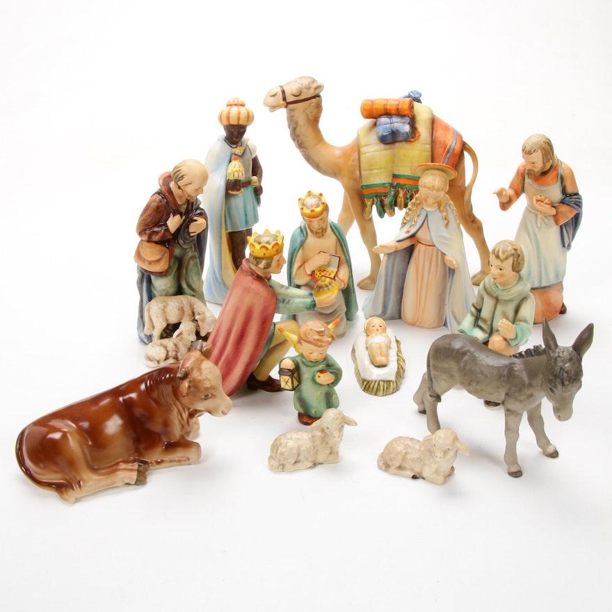 Goebel Porcelain Nativity Figurines