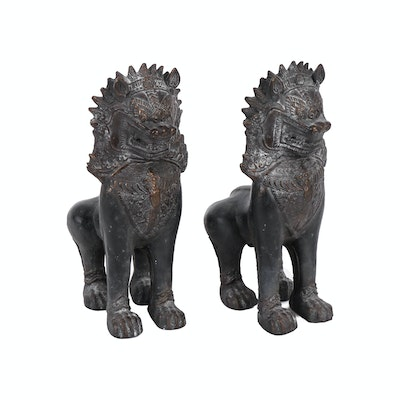 Guardian Lion Composite Bookends, 20th Century