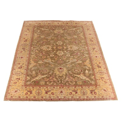 9'11 x 13'1 Hand-Knotted Indian Numani Wool Rug
