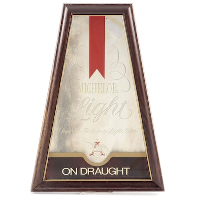 "Michelob Light ""On Draught"" Mirrored Beer Sign, Late 20th Century"