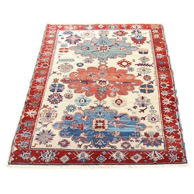 5'2 x 7'6 Hand-Knotted Turkish Azari Village Rug, 1990s
