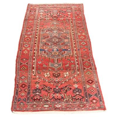 3'6 x 7'3 Hand-Knotted Persian Zantan Rug, 1960s