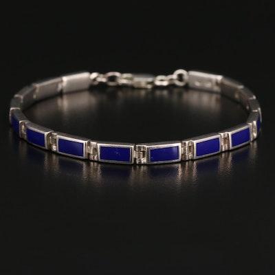 Sterling Resin Panel Bracelet
