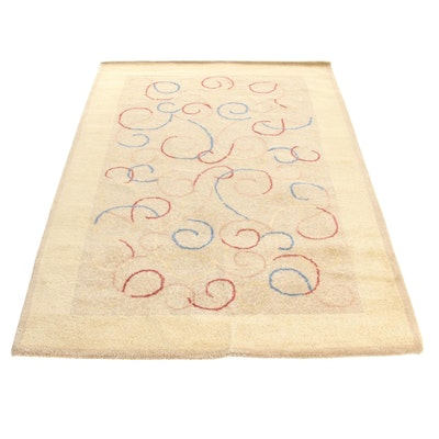 5' x 7'11 Hand-Tufted Mid-Century Modern Style Rug, 2000s
