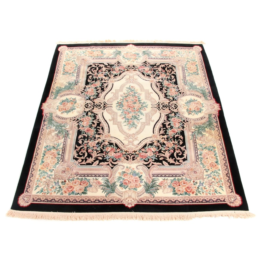 7'8 x 10'3 Hand-Knotted Sino-Persian Rug, 2000s