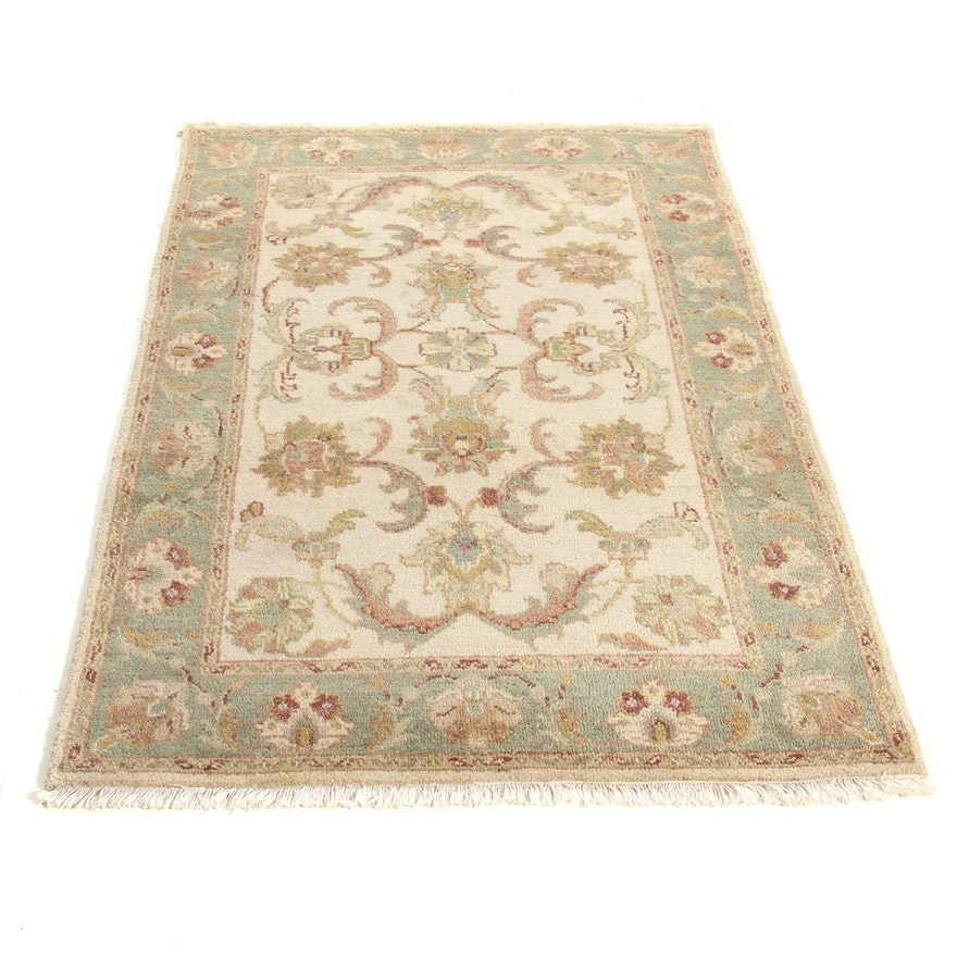 3'11 x 6'4 Hand-Knotted Indo-Persian Tabriz Rug, 2000s