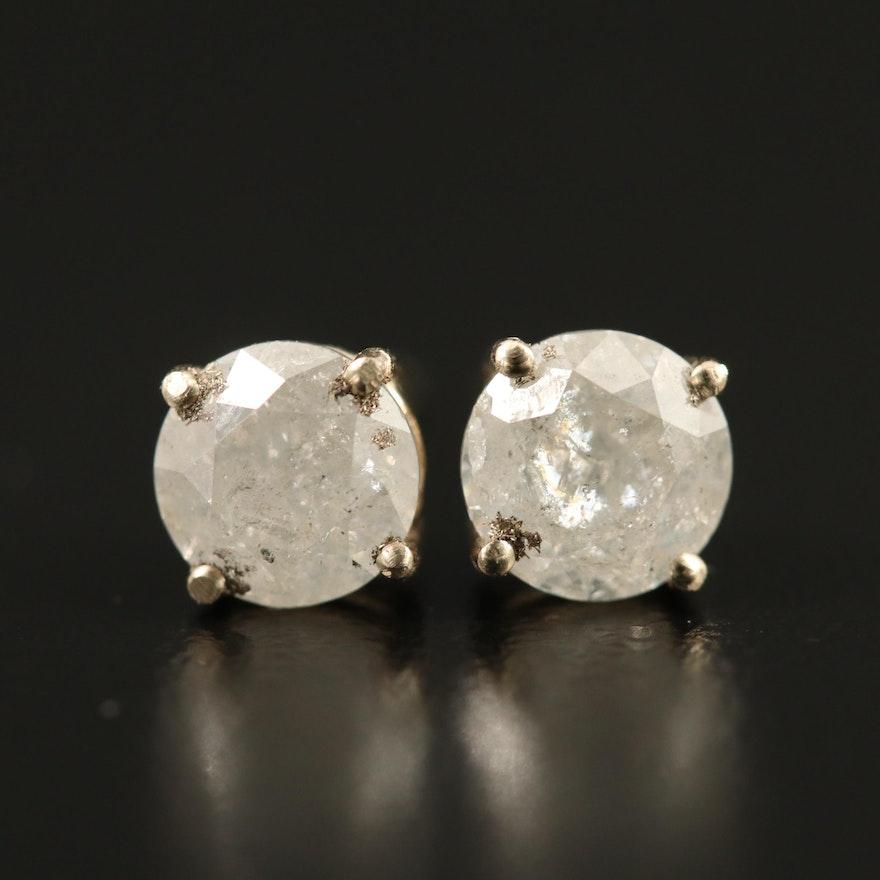 14K 1.26 CTW Diamond Stud Earrings