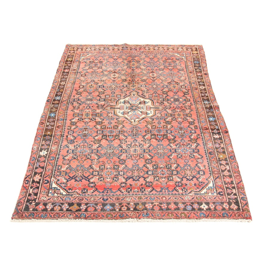 4'7 x 7'5 Hand-Knotted Persian Malayer Rug, 1930s