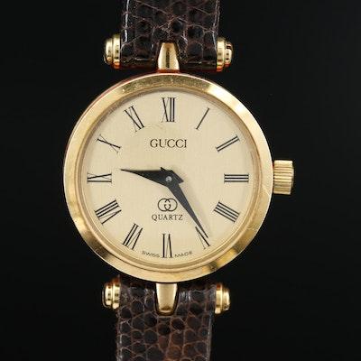 Vintage Gucci 2000L Enamel and Gold Tone Quartz Wristwatch