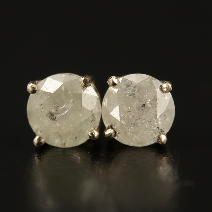 14K Gold 1.28 CTW Diamond Stud Earrings