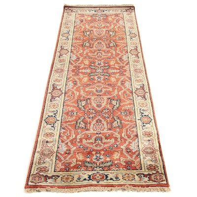 2'6 x 8' Hand-Knotted Indo Persian Tabriz Runner, 2010s