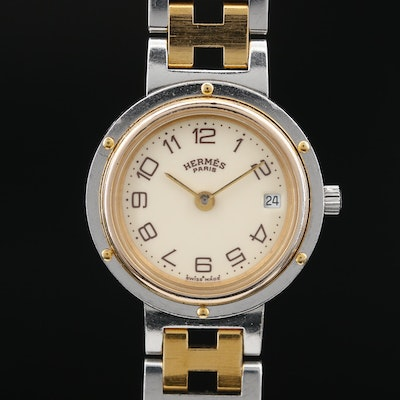 Hermès Clipper Two Tone Quartz Wristwatch