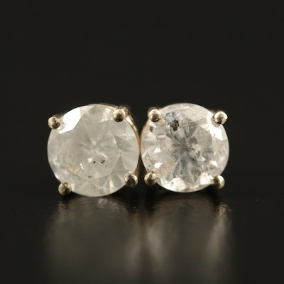 14K Gold 1.22 CTW Diamond Stud Earrings