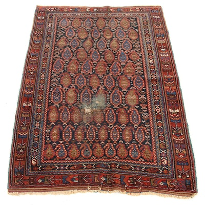 3'5 x 5'8 Hand-Knotted Persian Afshar Rug, 1920s