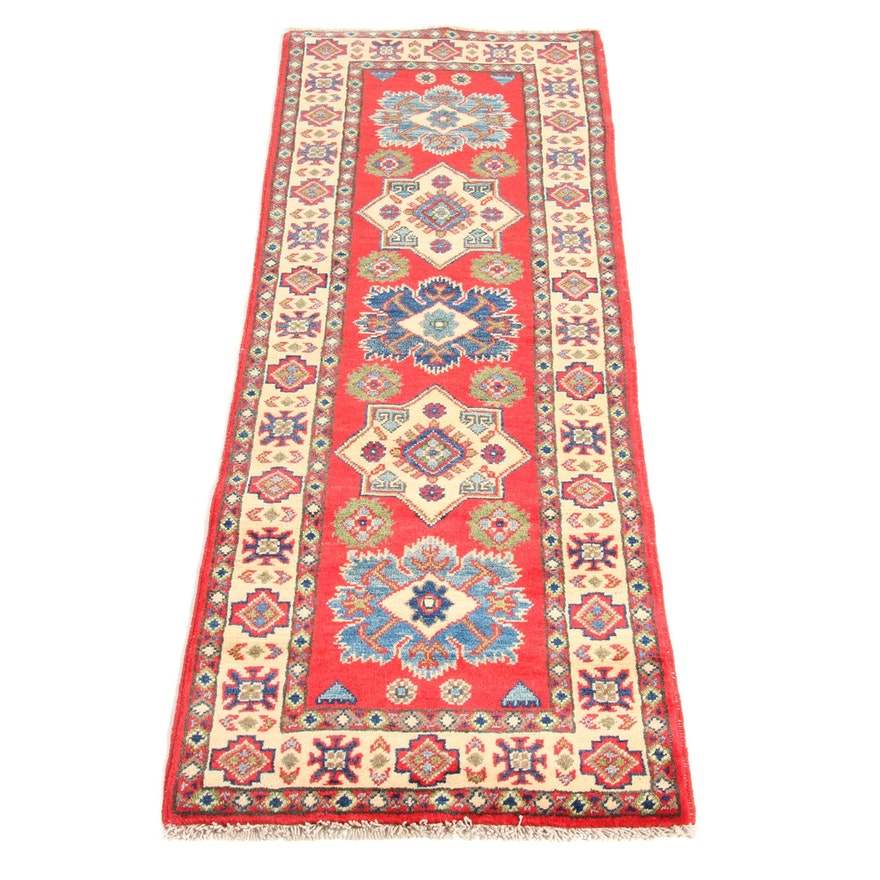 2'1 x 6' Hand-Knotted Afghani-Persian Tabriz Rug Runner, 2000s