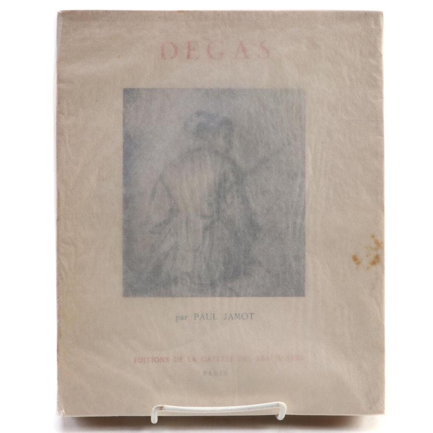 """French Language """"Degas"""" by Paul Jamot, 1924"""