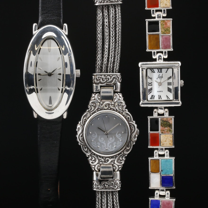Collection of Sterling Silver Quartz Wristwatches