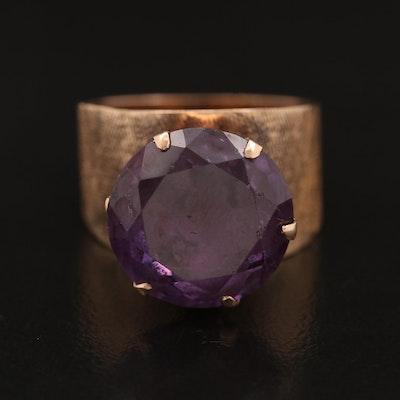 1960s 14K Corundum Ring with Florentine Finish