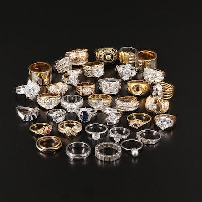 Collection of Rings Including Sterling and Joseph Esposito