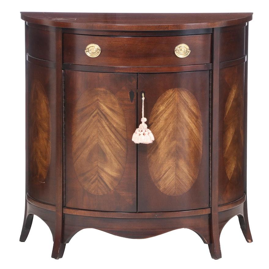 Brandt Furniture Hepplewhite Style Mahogany Demilune Commode, Late 20th Century