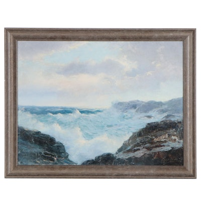 Fred Pye Seascape Oil Painting, Early to Mid-20th Century
