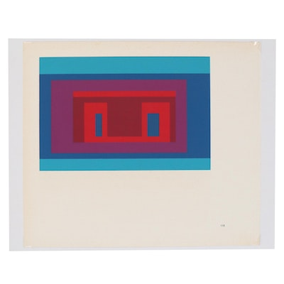 "Josef Albers Serigraph from ""Variants"" Series, 1968"