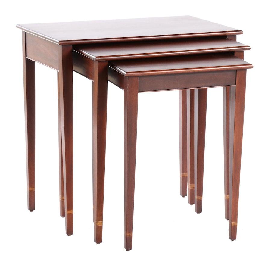 Henkel-Harris Virginia Galleries Mahogany Federal Style Nesting Tables