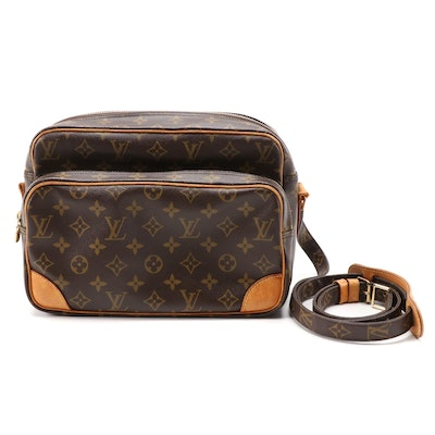 Louis Vuitton Nil 28 Shoulder Bag in Monogram Canvas and Vachetta Leather