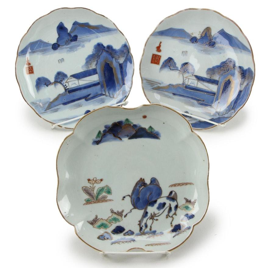 Japanese Arita Porcelain Plates, Meiji Period