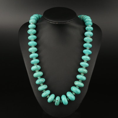 Magnesite Necklace with Sterling Findings