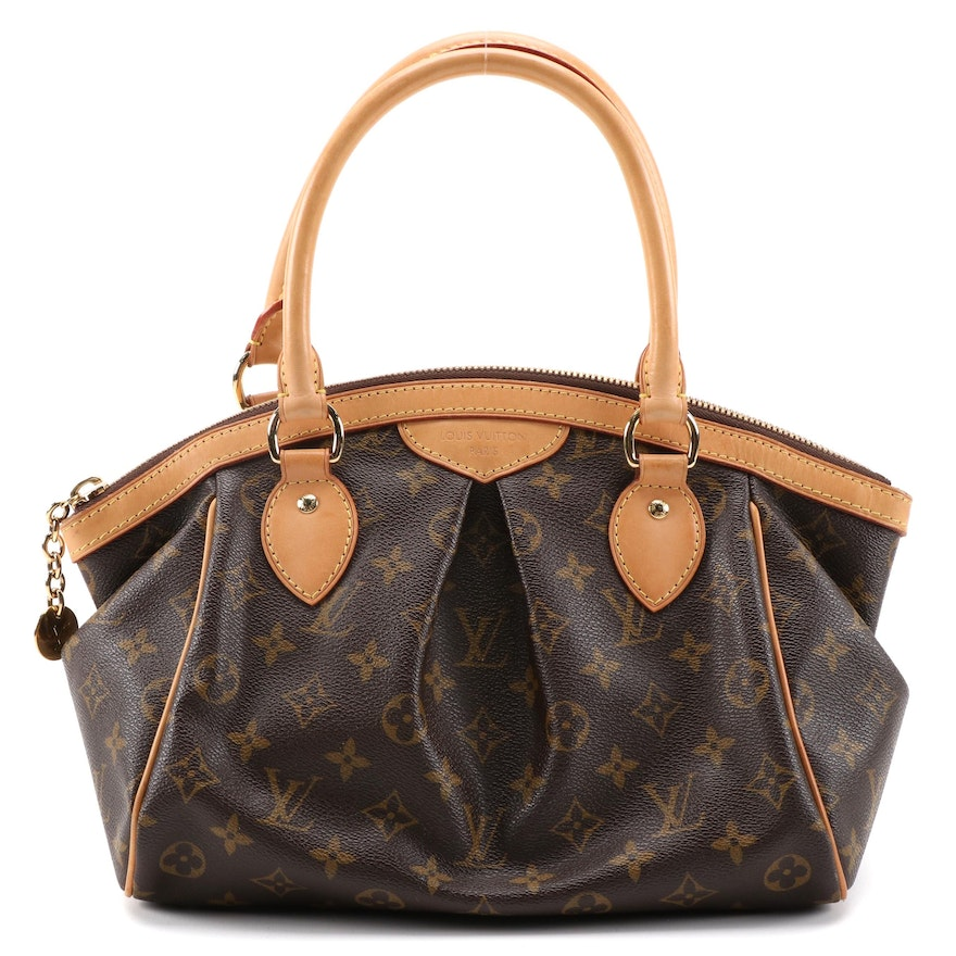 Louis Vuitton Tivoli PM Shoulder Bag in Monogram Canvas and Vachetta Leather