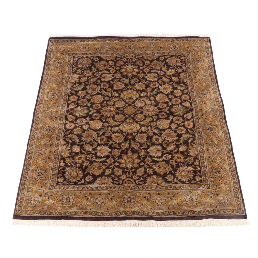 7'8 x 10'1 Hand-Knotted Indian Mahal Wool Rug